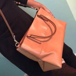 Nude/Light Brown Leather Coach Bag